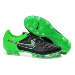 2014/2015 Chaussures Football Nike Tiempo Legend V FG Noir Vert