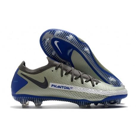 Chaussure 2021 Nike Phantom GT Elite FG - Bleu Gris Noir