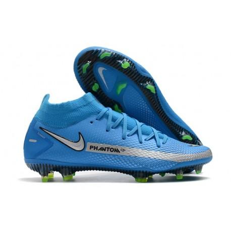 Chaussures Neuf Nike Phantom GT Elite Dynamic Fit FG Bleu Argent