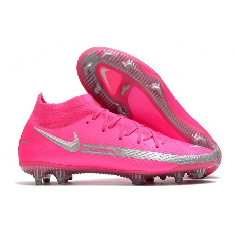 Chaussures Neuf Nike Phantom GT Elite Dynamic Fit FG Rose Argent
