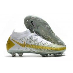 Nike Phantom Generative Texture GT Elite DF FG Or Blanc