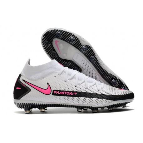 Chaussure de football Nike Phantom GT Elite DF AG-Pro Blanc Rose Noir
