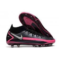 Chaussure de football Nike Phantom GT Elite DF AG-Pro Noir Argent Rose