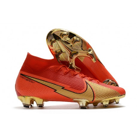 Chaussure Nike Mercurial Superfly VII Elite FG CR100 Rouge Or