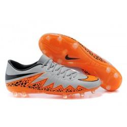 Nouveau Nike Hypervenom Phantom FG Chaussure de Football ACC Premium Hommes Argenté Orange Noir
