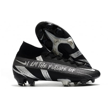 Chaussure Nike Mercurial Superfly VII Elite FG Noir Argent