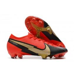 Crampon Nike Mercurial Vapor XIII Elite FG Rouge Noir Or