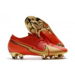 Crampon Nike Mercurial Vapor XIII Elite FG CR100 Ronaldo Rouge Or