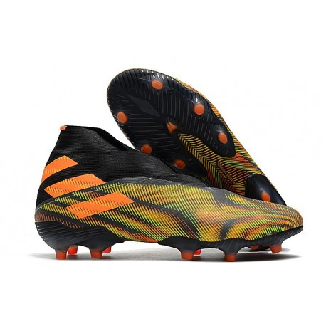 adidas Nemeziz 19+ FG Crampons Football Vert Orange Noir