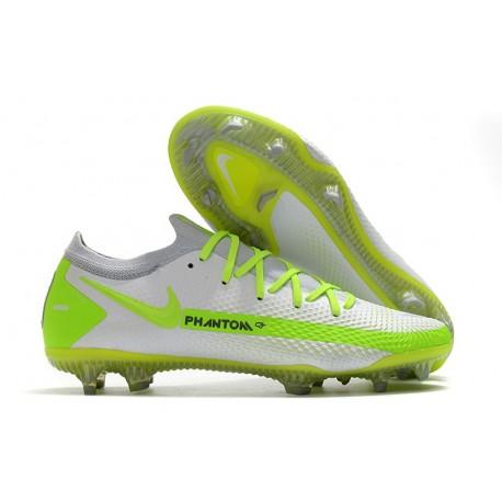 Nike Crampons Nouvelle Phantom GT Elite FG Blanc Vert