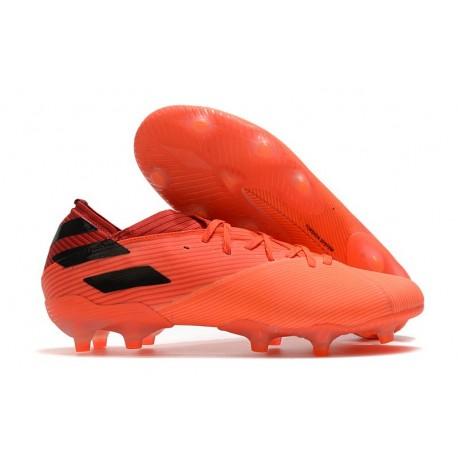 Crampons adidas Nemeziz 19.1 FG Homme - Corail Noir Rouge Goire
