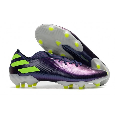 Crampons adidas Nemeziz 19.1 FG Homme - Violet Vert