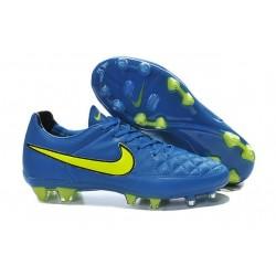 Nouveau Crampons Nike Tiempo Legend V FG Hommes Blue Volt Noir