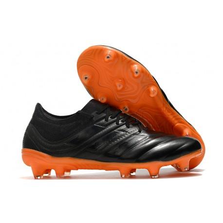 Nouveau Crampons Foot - Adidas Copa 19.1 FG Noir Orange