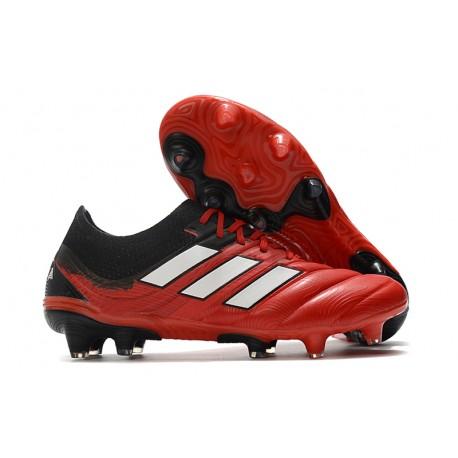 Crampons Nouvel adidas Copa 20.1 FG Noir Rouge Blanc