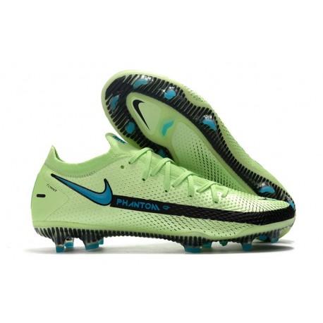 Nike Crampons Nouvelle Phantom GT Elite FG Impulse - Vert Bleu