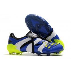 Adidas - Chaussures Football Predator Accelerator FG Bleu Blanc Vert