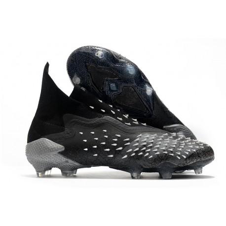 Crampons adidas Predator Freak + FG Noir Gris Blanc