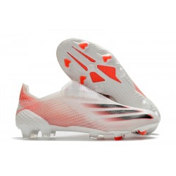 Chaussures de football adidas X Ghosted+ FG Blanc Rouge Noir