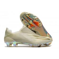Chaussures de football adidas X Ghosted+ FG Inflight - Blanc Doré Noir