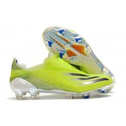 Chaussures de football adidas X Ghosted+ FG jaune fluo noir