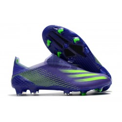 Chaussures de football adidas X Ghosted+ FG Violet Vert