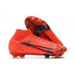 Nike Neuf Mercurial Superfly VIII Elite FG Rouge Noir