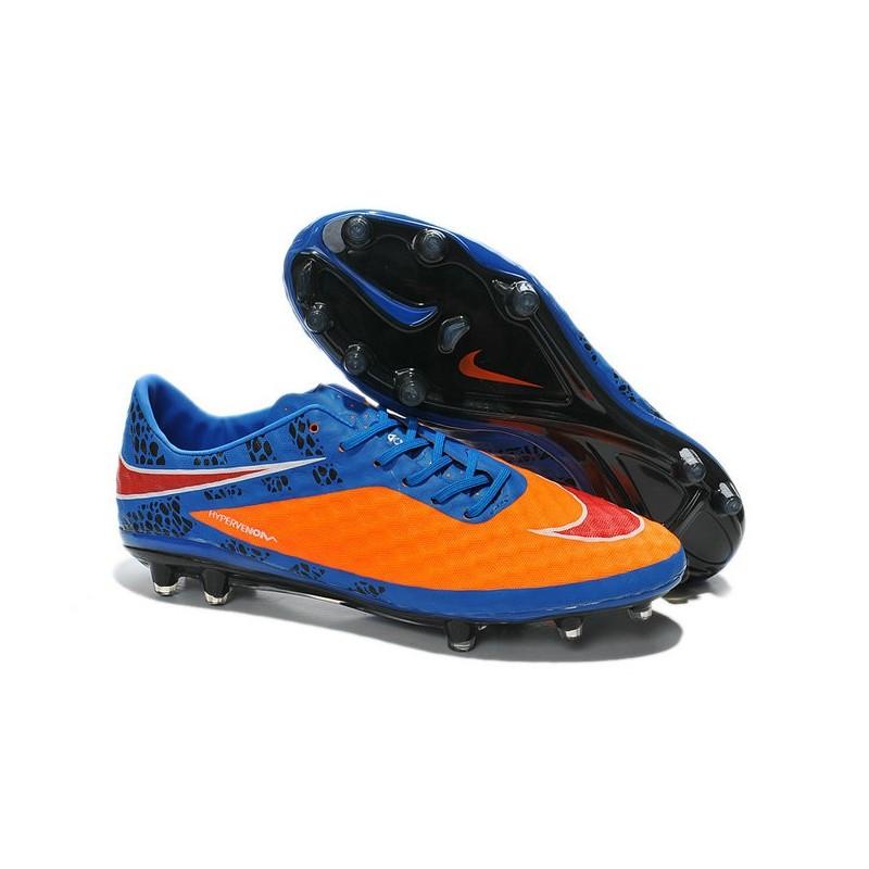Football Orange Nike Hypervenom FG Rouge Bleu Phantom Chaussures v1cF7BFg