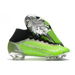 Nike Neuf Mercurial Superfly VIII Elite FG Vert Argent Noir