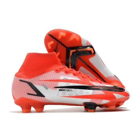 Nike Mercurial Superfly 8 Elite CR7 FG Rouge Piment Noir Fantôme Orange