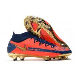Chaussures Nike Phantom GT Elite DF FG Orange Bleu Or