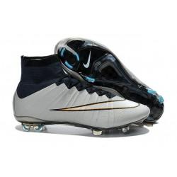 Coupe du monde 2015 Chaussures Nike Mercurial Superfly FG Argent Blanc Hyper Turquoise Noir