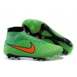 Nouvelle Crampons Nike Magista Obra FG Hommes Vert Orange Noir