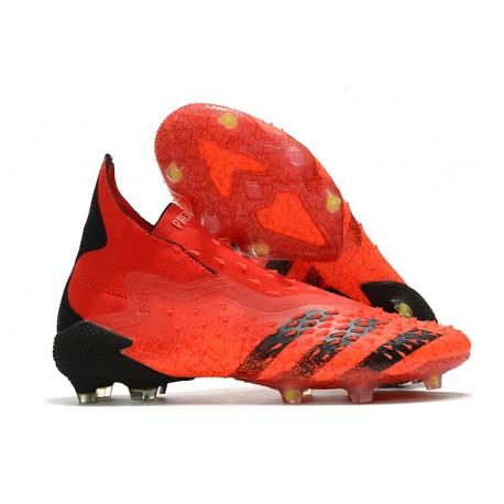 Crampons adidas Predator Freak + FG Rouge Noir Rouge Solaire