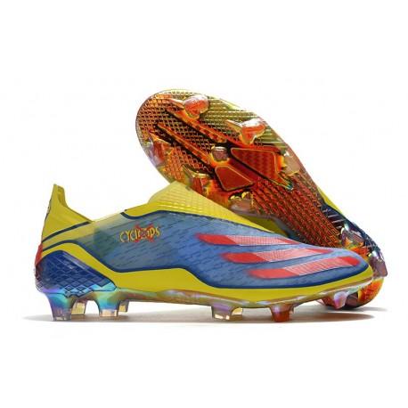 Chaussures de football adidas X Ghosted+ FG X-Men Bleu Rouge Vif Jaune