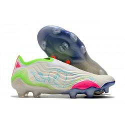Crampons Foot adidas Copa Sense+ FG Inner Life - Blanc Jaune Rose ÉDITION LIMITÉE