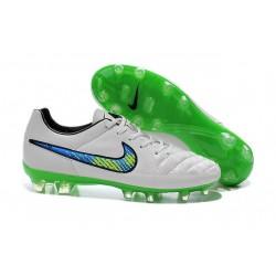 2015 Chaussures Football Nike Tiempo Legend V FG Blanc Volt Solaire Noir