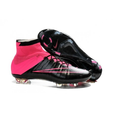 2015/2016 Chaussures Nike Mercurial Superfly FG Noir / Rose Hyper