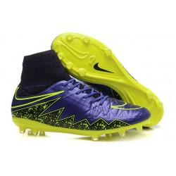 2015 Bottes Nike HyperVenom Phantom II FG Football Violet Noir Jaune