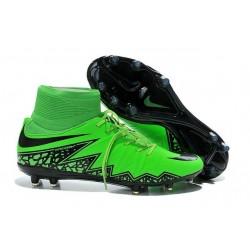 Nike HyperVenom Phantom II FG Football Crampons Vert Noir