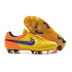 Nouveau Crampons Nike Tiempo Legend V FG Hommes Orange Laser Violet Persan Orange Total Violet