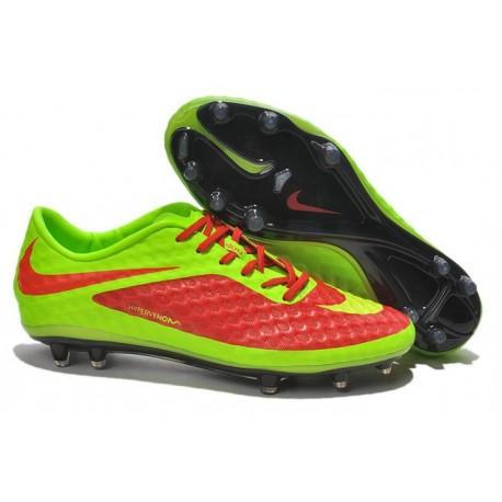 2014 Nike Hypervenom Phantom FG Chaussure de Football Rouge Vert
