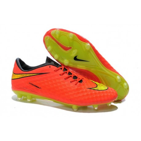 Chaussures de Football Nike Hypervenom Phantom FG Hommes Punch Volt Or