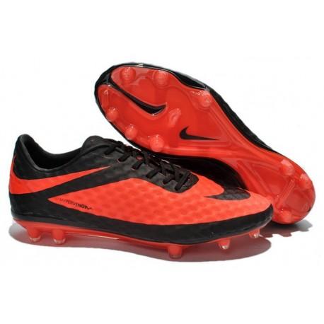 Nouvelle Chaussures de Football Nike Hypervenom Phantom FG Rouge Noir