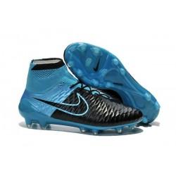 2015 Chaussure de Football Nike Magista Obra FG Cuir Bleu Noir