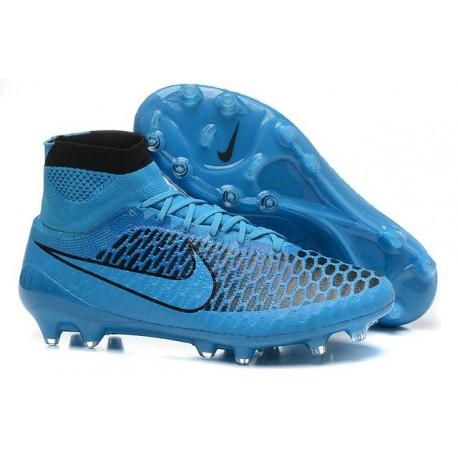 Nouvelle Crampons Nike Magista Obra FG Hommes Noir Bleu
