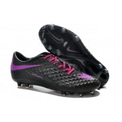 Nouveau Nike Hypervenom Phantom FG Chaussure de Football Hommes Violet Noir