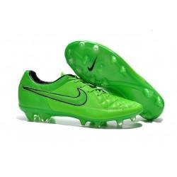 2015 Chaussures Football Nike Tiempo Legend V FG Vert Noir