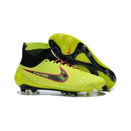 2015 Chaussure de Football Nike Magista Obra FG Volt Orange Rose Noir