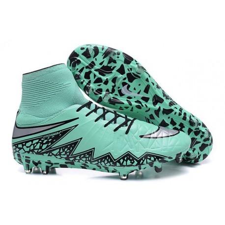 Nike HyperVenom Phantom II FG Football Crampons Vert Noir Gris